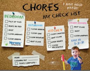 Norwex Chore Chart