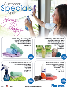 April 2013 Norwex Customer Specials USA