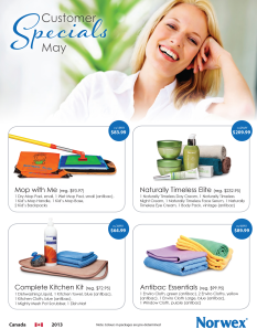 May 2013 Norwex Customer Special Canada