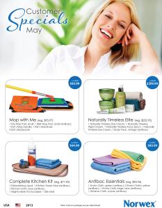 May 2013 Norwex Customer Specials USA