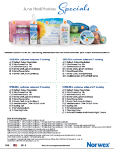 June 2013 Norwex Hostess Specials USA