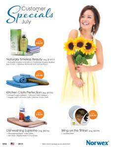 July 2013 Norwex Customer Special USA