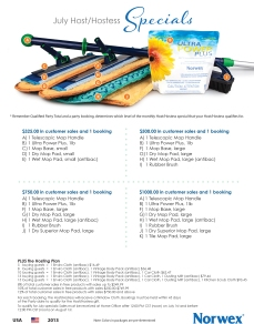 July 2013 Norwex Hostess Specials USA