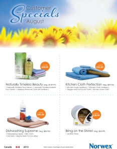 August 2013 Norwex Customer Specials Canada