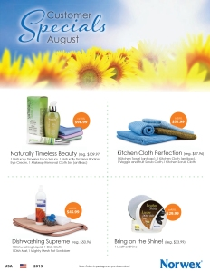 August 2013 Norwex Customer Specials USA