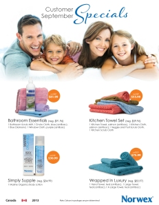 September 2013 Norwex Customer Specials Canada