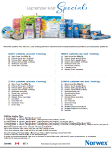 September 2013 Norwex Hostess Special Canada - revised