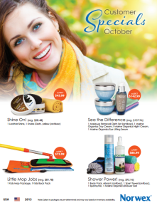 October 2013 Norwex Customer Specials USA