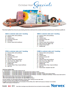 October 2013 Norwex Hostess Special Canada
