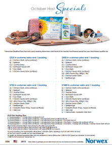 October 2013 Norwex Hostess Specials USA