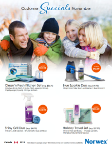November 2013 Norwex Customer Special Canada