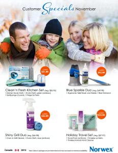 November 2013 Norwex Customer Special Canada