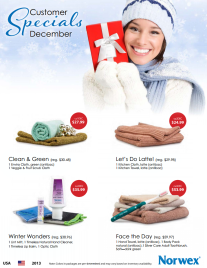 December 2013 Norwex Customer Specials USA