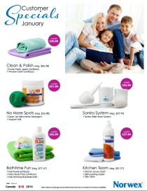 January 2014 Norwex Customer Specials
