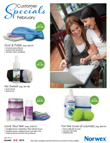 February 2014 Norwex Customer Specials Canada