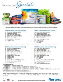 February 2014 Norwex Hostess Specials USA