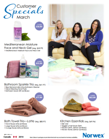 March 2014 Norwex Customer Specials Canada