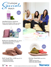 March 2014 Norwex Customer Specials USA