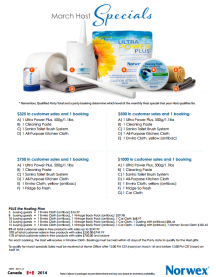 2014 Norwex Hostess Specials Canada