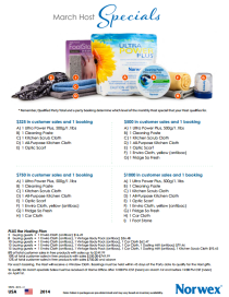 March 2014 Norwex Hostess Specials USA