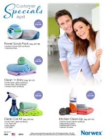 April 2014 Norwex Customer Specials USA