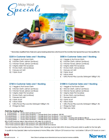 May 2014 Norwex Host Specials Canada
