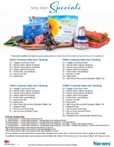May 2014 Norwex Host Specials USA