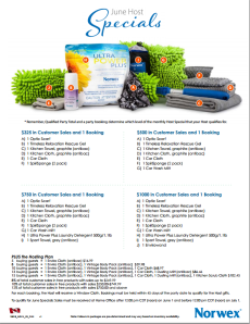 June 2014 Norwex Host Specials Canada