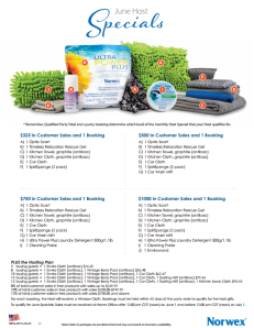 June 2014 Norwex Host Specials USA