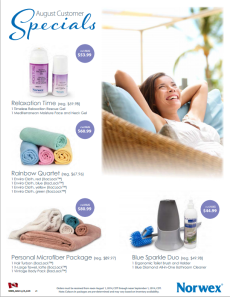 August 2014 Norwex Customer Specials Canada