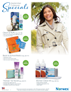 September 2014 Norwex Customer Specials USA