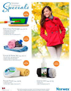 October 2014 Norwex Customer Special Canada