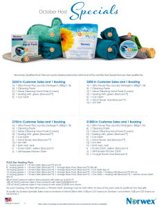 October 2014 Norwex Host Specials USA