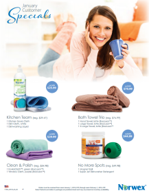 January 2015 Norwex Customer Specials USA