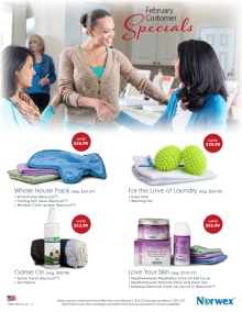 February 2015 Norwex Customer Specials USA