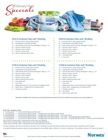 February 2015 Norwex Host Specials USA