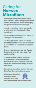Caring for Norwex Microfiber