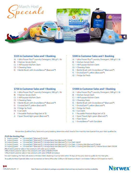 march 2015 norwex specials canada | safercleaning