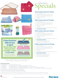 April 2015 Norwex Host Specials Canada