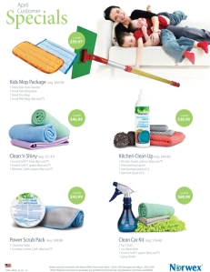 April 2015 Norwex Customer Specials USA