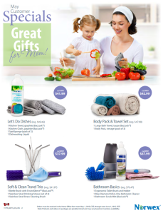 May 2015 Norwex Customer Specials Canada