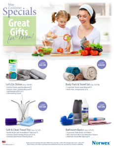 May 2015 Norwex Customer Specials USA