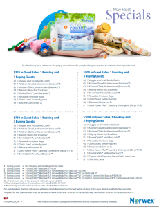 May 2015 Norwex Host Specials Canada