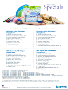 May 2015 Norwex Host Specials USA