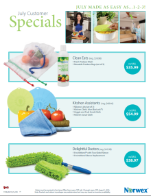 July 2015 Norwex Customer Specials Canada