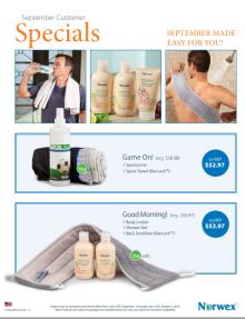 September 2015 Norwex Customer Specials USA