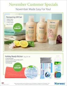 November 2015 Norwex Customer Specials Canada