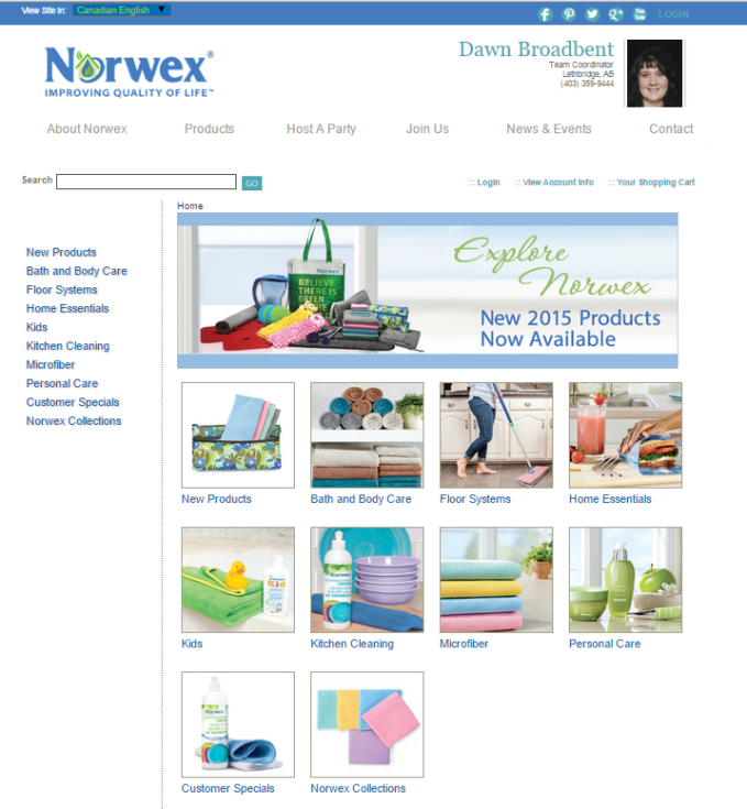 Dawn`s online Norwex Retail Store