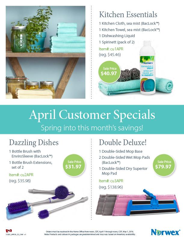 April  Norwex Customer Specials