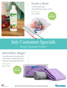 July 2016 Norwex Customer Specials Canada